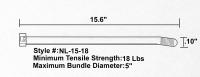 Lightweight Nylon cable ties